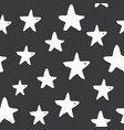 star seamless pattern hand drawn sketched doodle vector image vector image