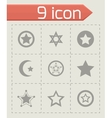 stars icon set vector image vector image