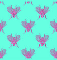 stereo flies seamless pattern vector image vector image