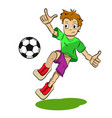 stock cartoon soccer player vector image vector image