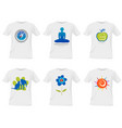 t-shirt templates design vector image vector image