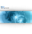 tech background line blue center vector image vector image