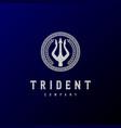 trident neptune god poseidon triton king spear lab vector image vector image