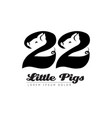 twenty two little pigs - logo logotype with vector image vector image