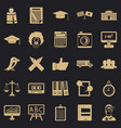 undergrad icons set simple style vector image vector image