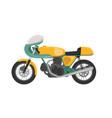 vintage classic yellow racer motorbike vector image vector image