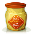 yellow mustard pot vector image