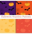Set of halloween backgrounds Collection of vector image