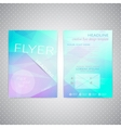 Flyer design Triangle template layout magazine vector image