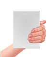 hand holding paper vector image
