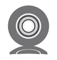 Isolated web cam icon vector image