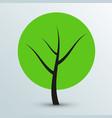modern flat green tree icon vector image