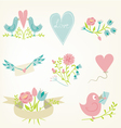 Valentines Day elements set vector image