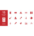15 audio icons vector image vector image