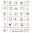 3D cube alphabet vector image