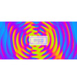 3d wavy background with ripple effect abstract vector image vector image