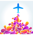 airplane background vector image vector image