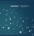 background with connection polygonal shapes vector image vector image