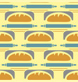 bakery seamless pattern wheat vector image vector image