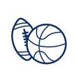 basketball ball icon american football ball icon vector image