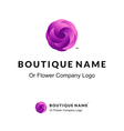 Beautiful Logo with Lilac Flower for Boutique or vector image