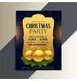 beautiful luxury party flyer for christmas vector image vector image