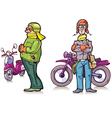 Bikers vector image