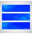 Blue Horizontal Set Of Banners Mosaic Backgrounds vector image vector image