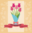 bouquet flowers happy mothers day card vector image