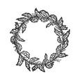 branch bent in circle sketch vector image vector image