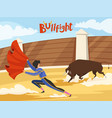 bullfighting background spain traditional vector image vector image