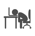 Business office tired worker flat icon pictogram vector image vector image