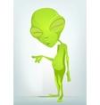 Cartoon Old Alien vector image