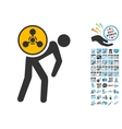Chemical Courier Icon with 2017 Year Bonus vector image vector image