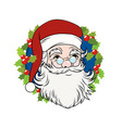 christmas decoration - vintage santa claus vector image vector image