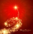 christmas golden tree design vector image vector image
