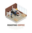 coffee roasting house background vector image vector image