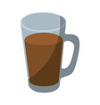 cold drink of chocolate vector image