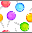 Color lollipops pattern vector image vector image