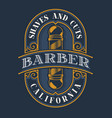 coloured lettering for barbershop vector image vector image
