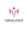 cosmetics and beauty wing people logos design vector image