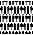 crowd black simple men icons seamless pattern vector image vector image