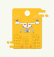 drone and camera taking photography and video on vector image