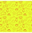 Fun christmas seamless lemon yellow pattern vector image