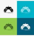 game gaming mobile entertainment app icon over vector image