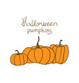 halloween pumpkin pattern simple pumpkins vector image vector image