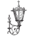 hand drawing lantern vector image