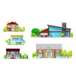 home buildings houses and residential apartments vector image vector image
