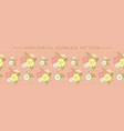 horizontal seamless border with beautiful floral vector image vector image