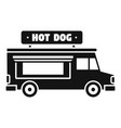 hot dog truck icon simple style vector image vector image
